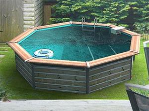 la piscine bois alu. Black Bedroom Furniture Sets. Home Design Ideas